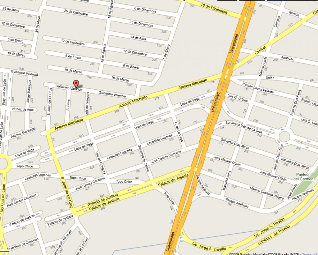Mapa Iglesia